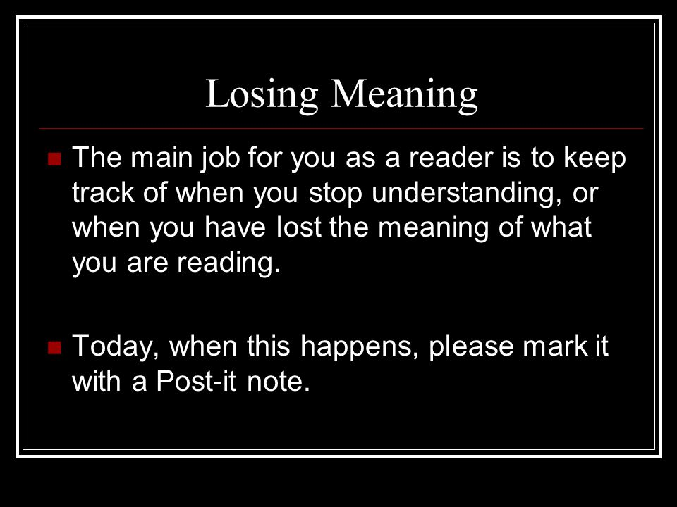 Losing Meaning