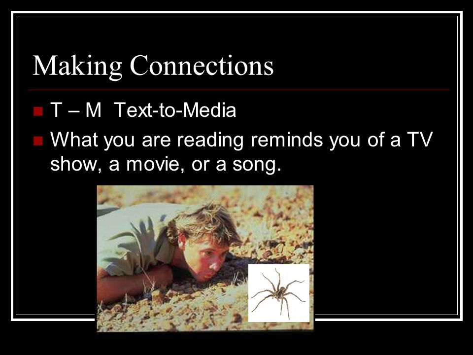 Making Connections T – M Text-to-Media
