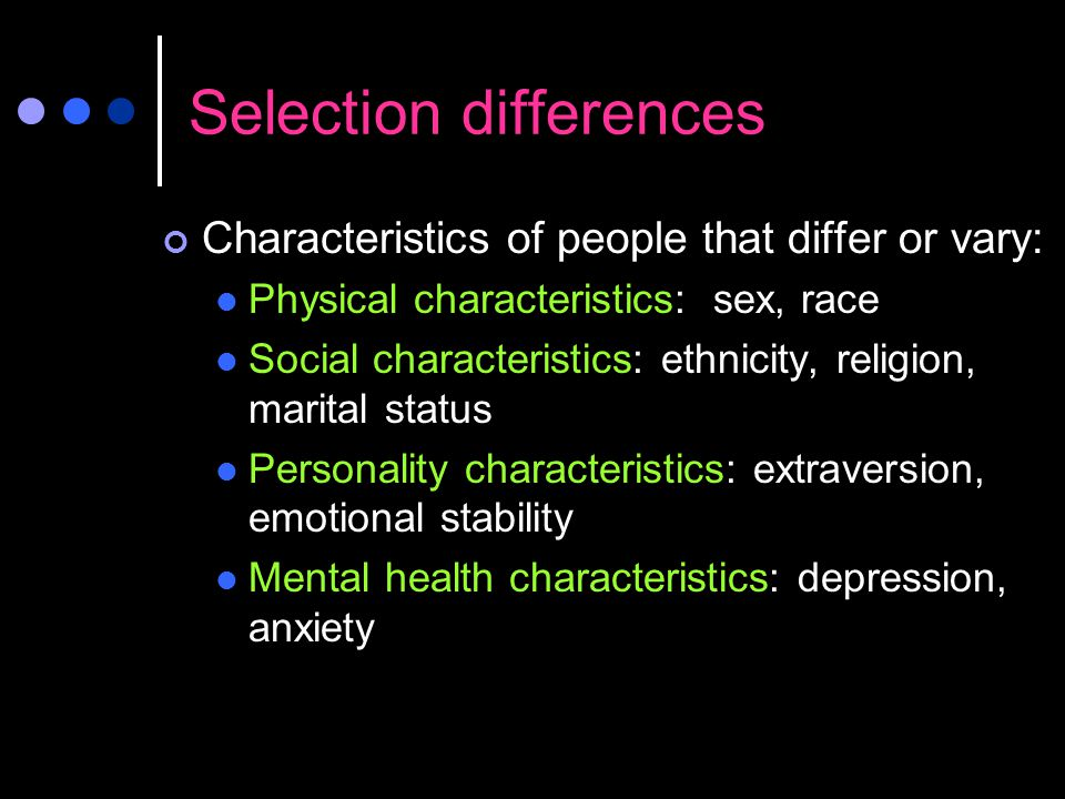 Selection differences