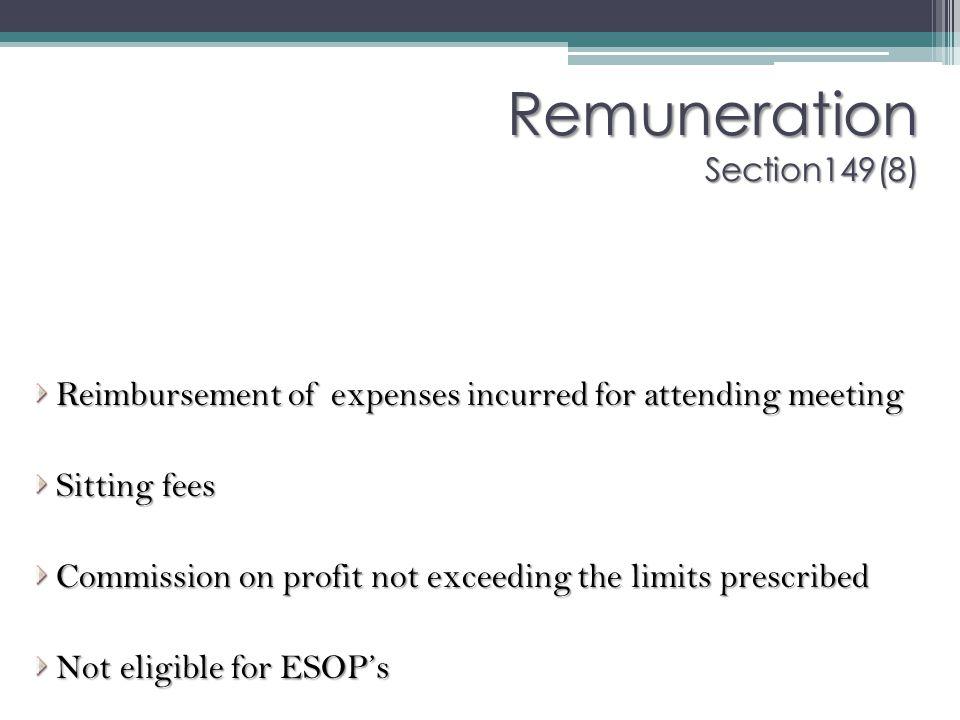 Remuneration Section149(8)