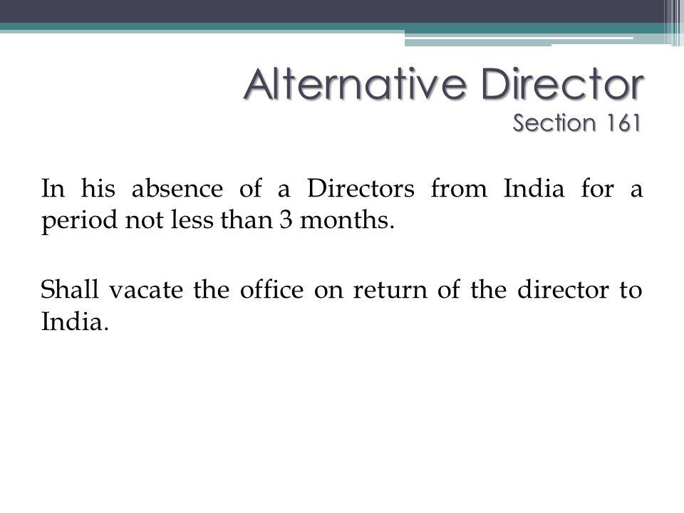 Alternative Director Section 161