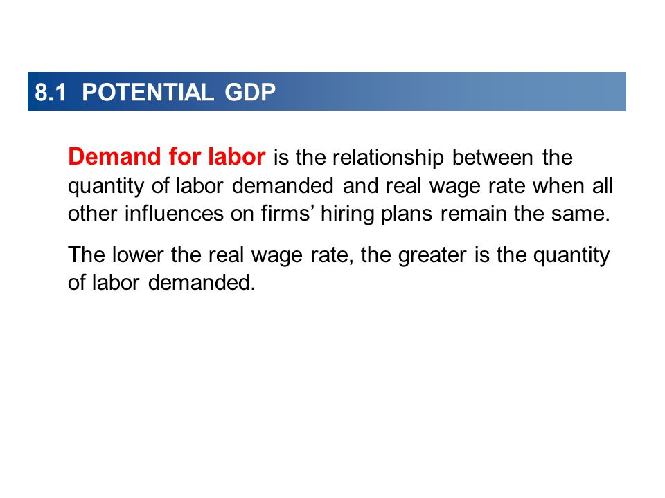 8.1 POTENTIAL GDP