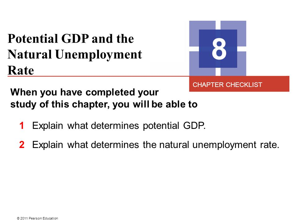 8 Potential GDP and the Natural Unemployment Rate