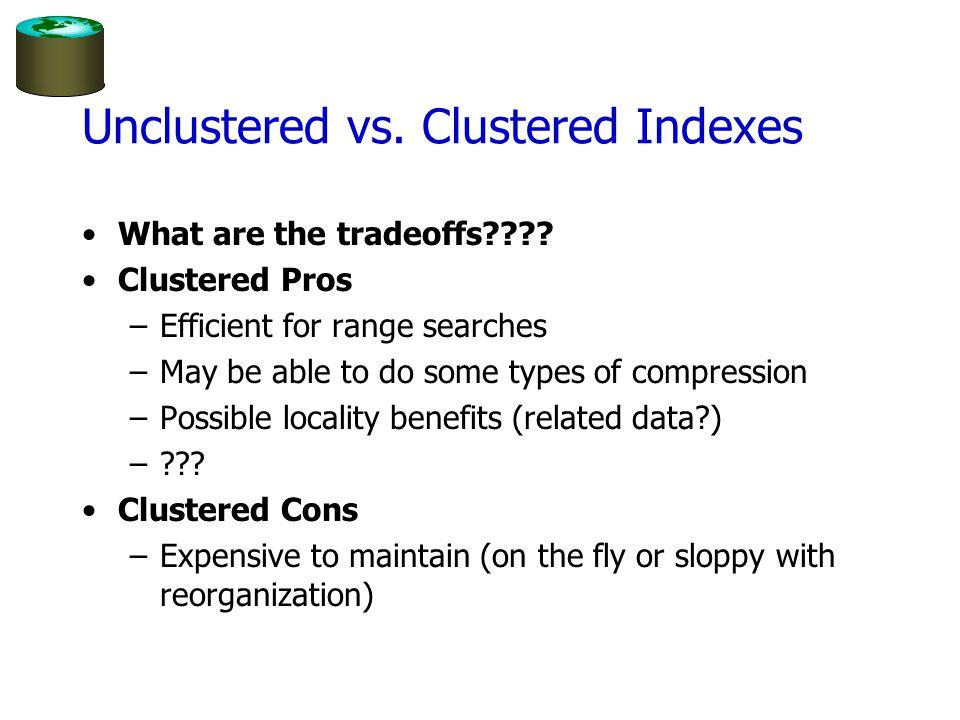 Unclustered vs. Clustered Indexes