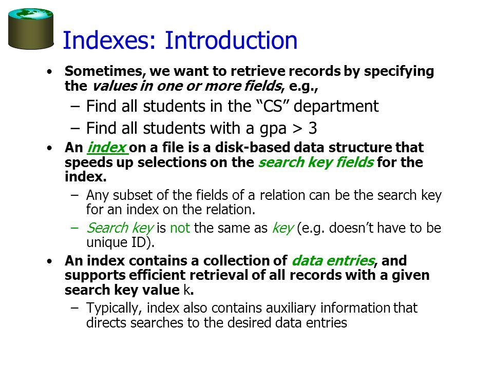 Indexes: Introduction