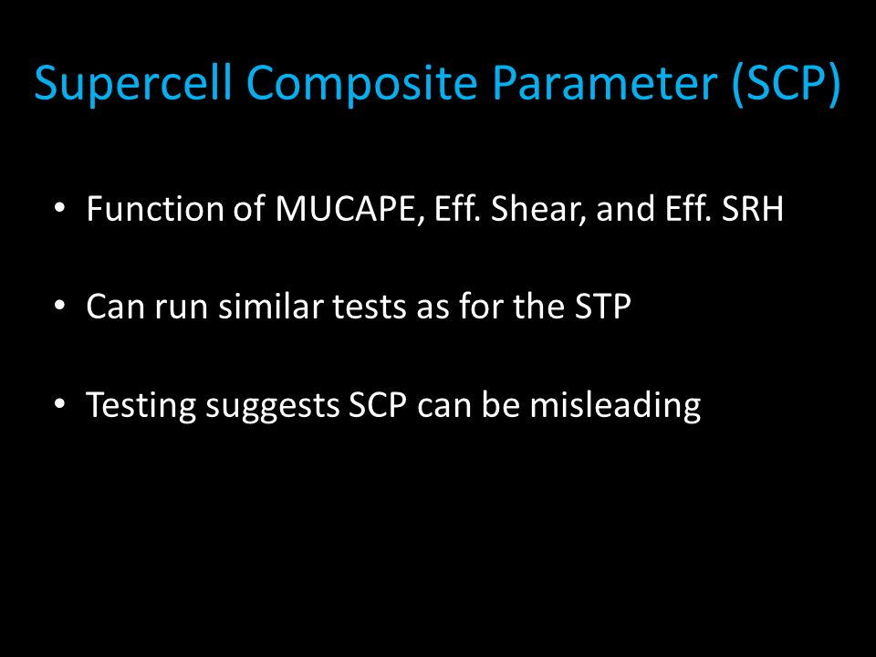 Supercell Composite Parameter (SCP)