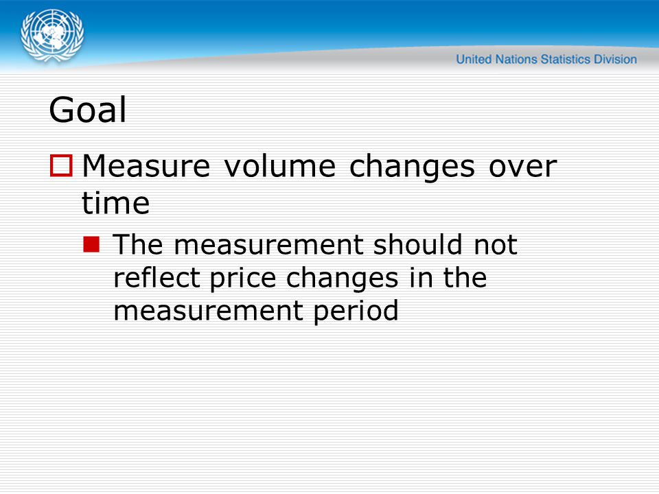Goal Measure volume changes over time