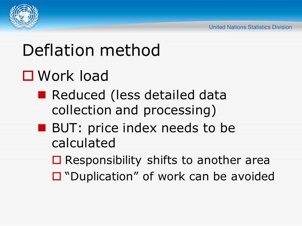 Deflation method Work load