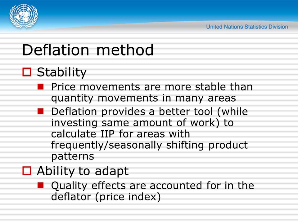 Deflation method Stability Ability to adapt