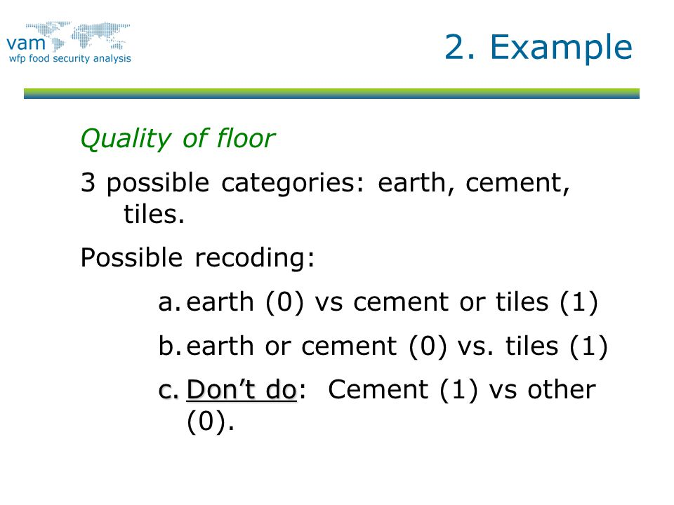 2. Example Quality of floor