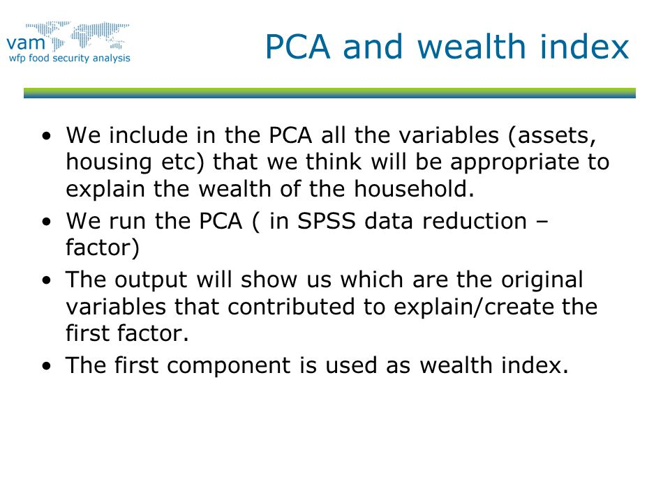 PCA and wealth index