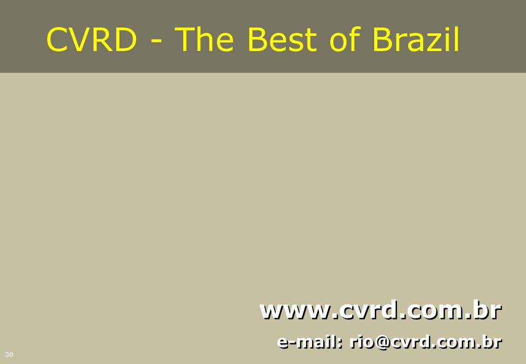 CVRD - The Best of Brazil