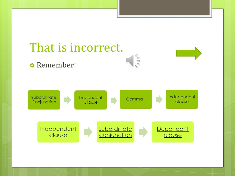 That is incorrect. Remember: Independent clause