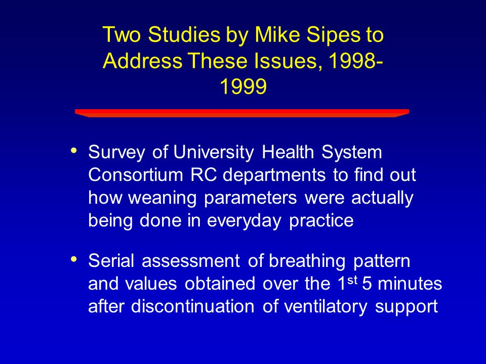 Two Studies by Mike Sipes to Address These Issues, 1998-1999