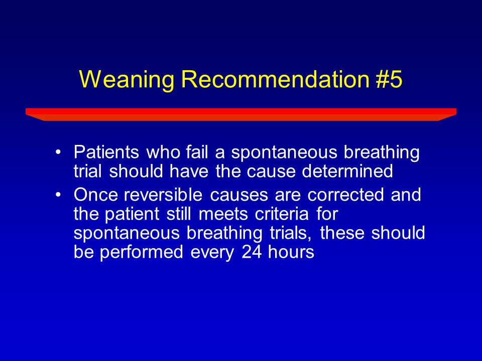 Weaning Recommendation #5