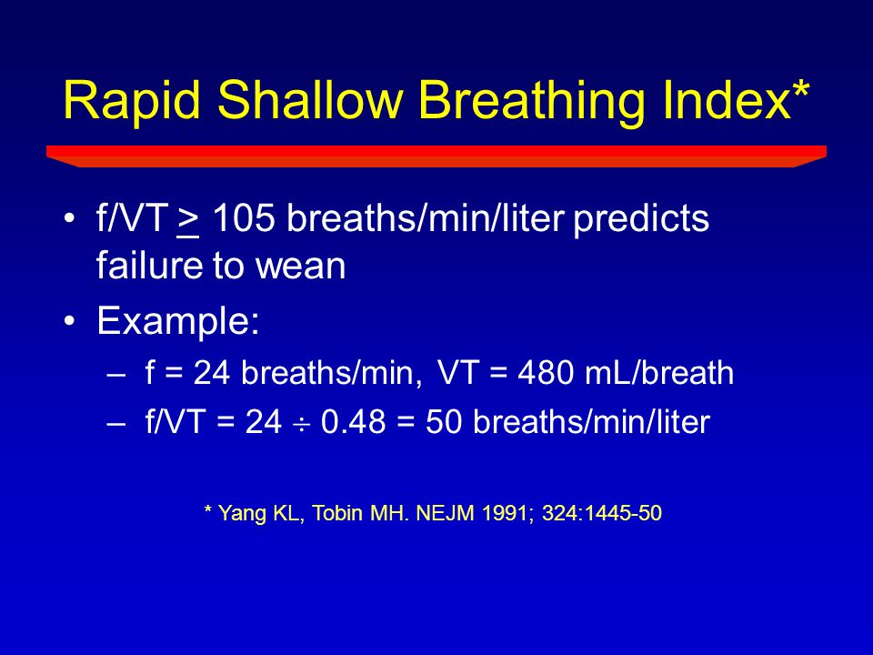 Rapid Shallow Breathing Index*