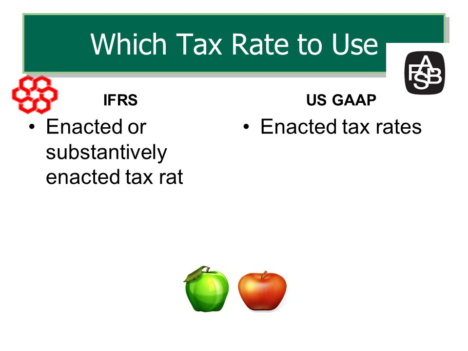 Which Tax Rate to Use Enacted or substantively enacted tax rat