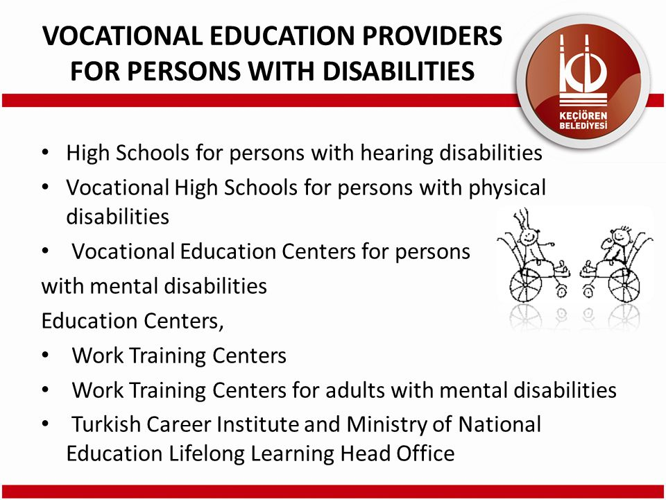 VOCATIONAL EDUCATION PROVIDERS FOR PERSONS WITH DISABILITIES