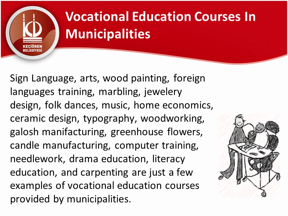 Vocational Education Courses In Municipalities