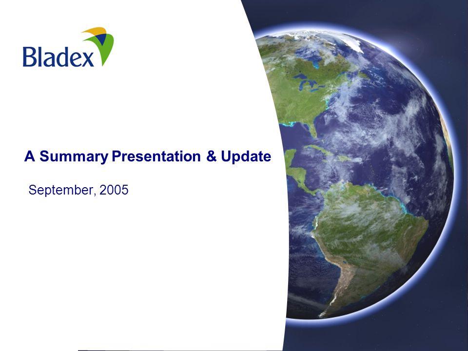 A Summary Presentation & Update