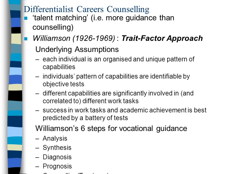 Differentialist Careers Counselling