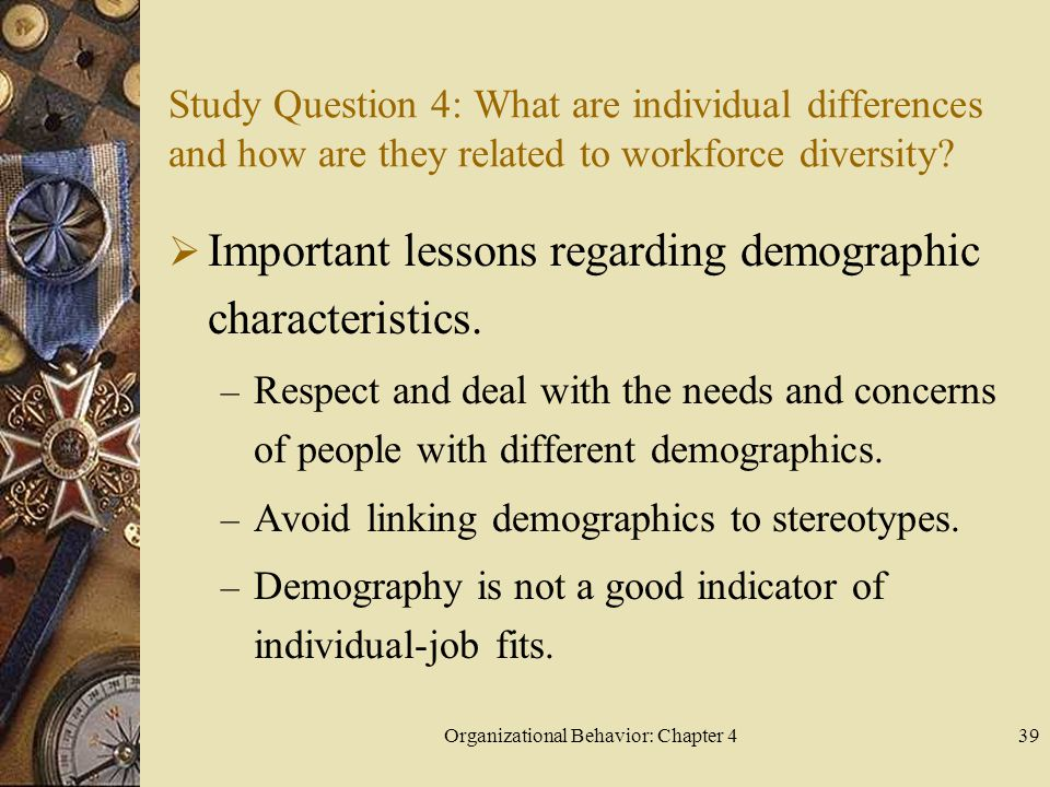 Organizational Behavior: Chapter 4