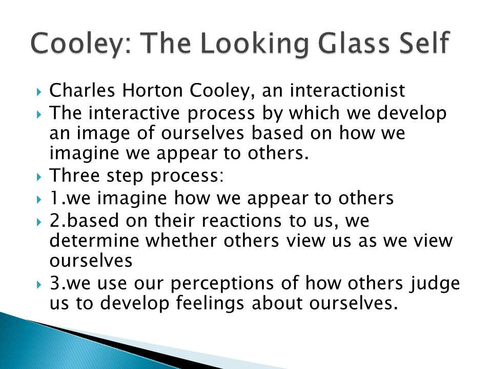 Cooley: The Looking Glass Self