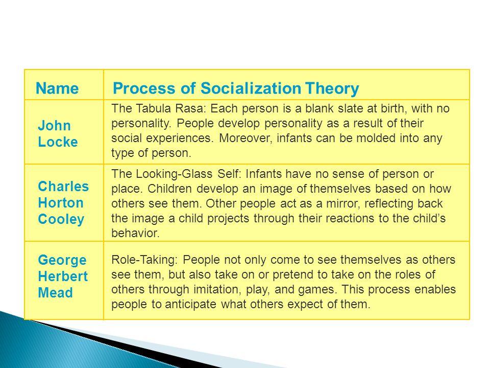 Process of Socialization Theory