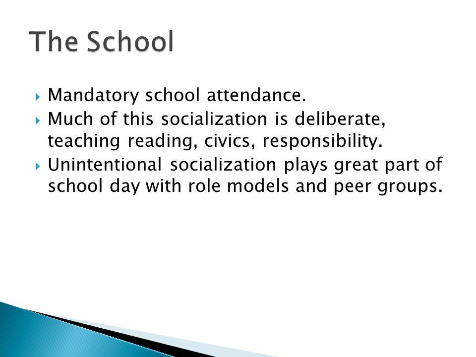 The School Mandatory school attendance.