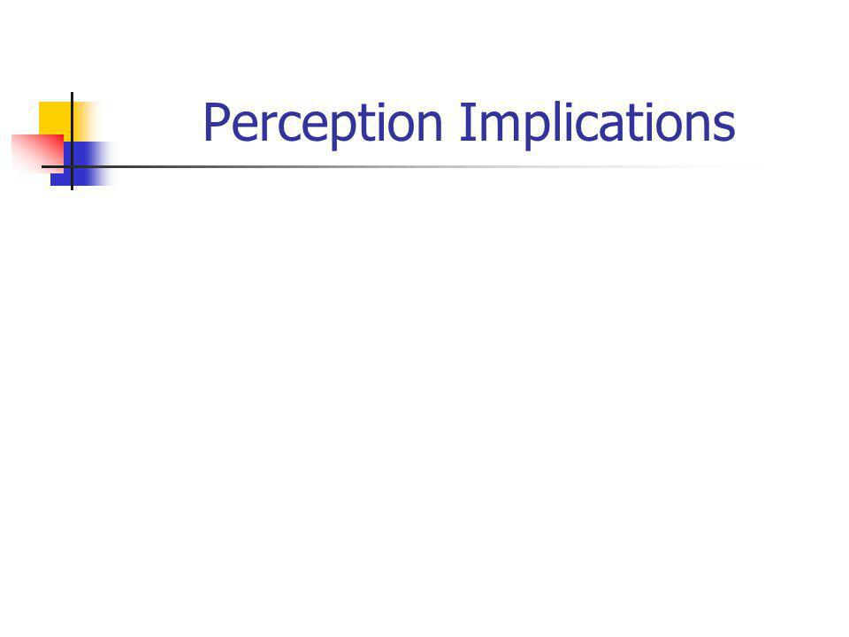 Perception Implications