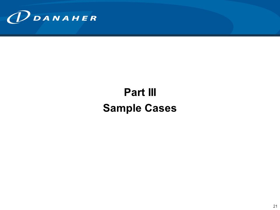 Part III Sample Cases