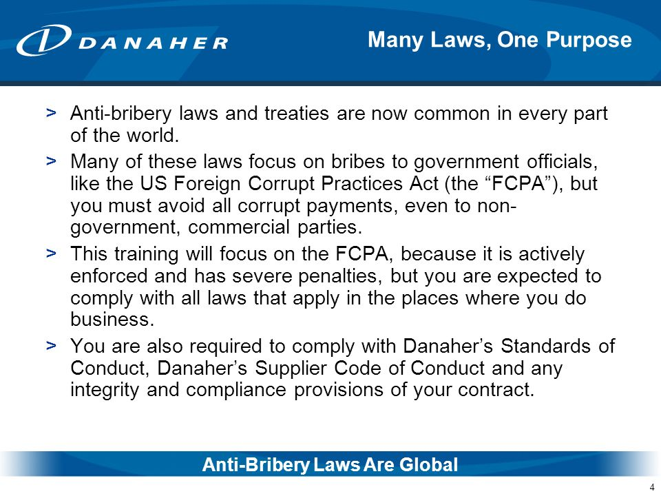 Anti-Bribery Laws Are Global