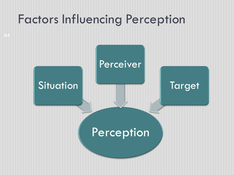 Factors Influencing Perception