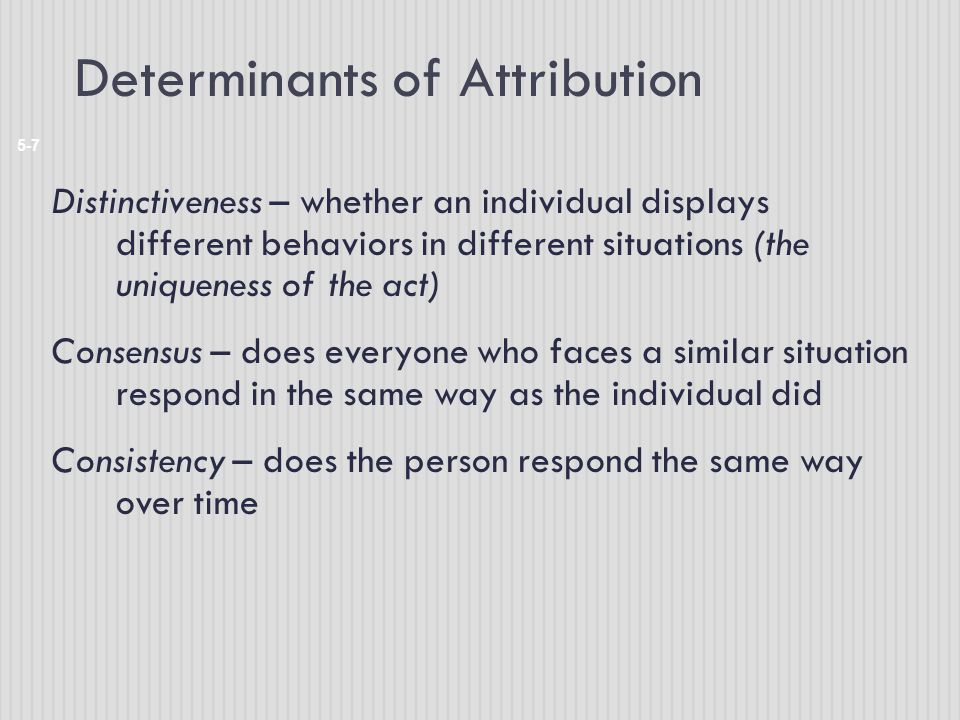 Determinants of Attribution