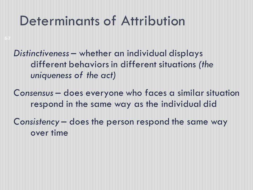 Determinants of Attribution