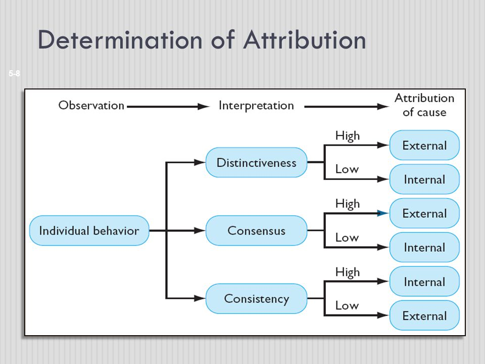 Determination of Attribution