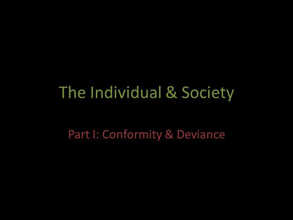 The Individual & Society