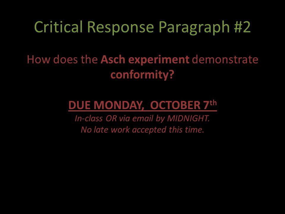 Critical Response Paragraph #2