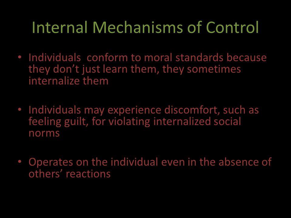 Internal Mechanisms of Control