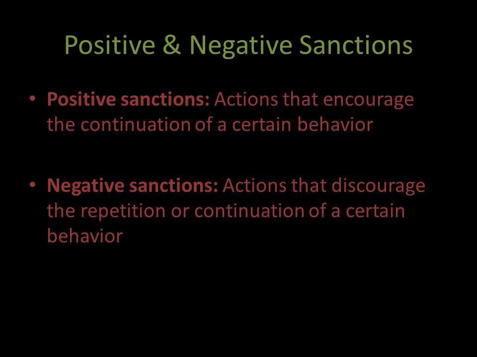 Positive & Negative Sanctions