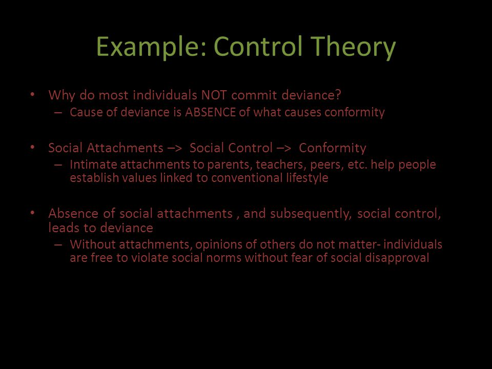 Example: Control Theory