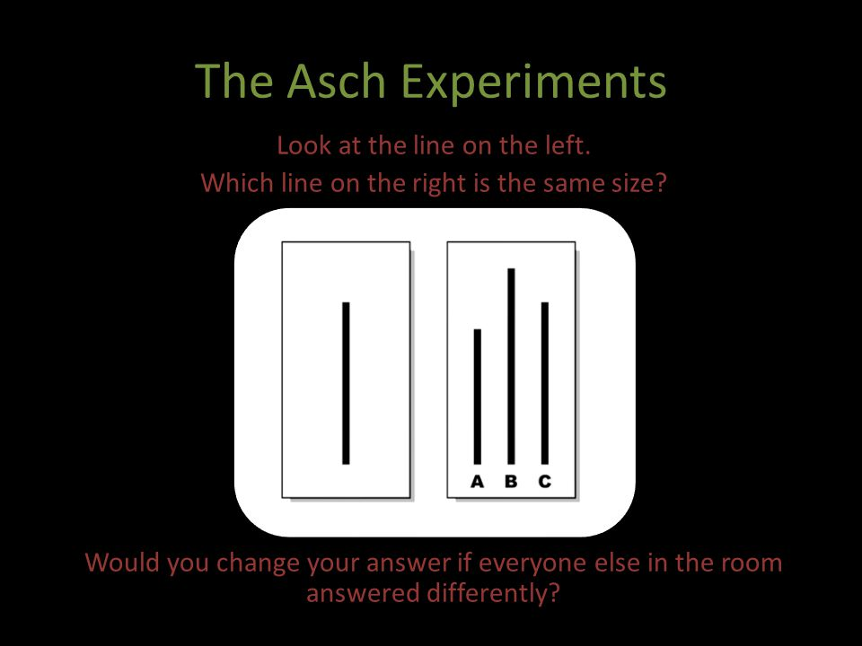 The Asch Experiments