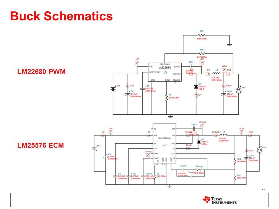 Buck Schematics LM22680 PWM LM25576 ECM
