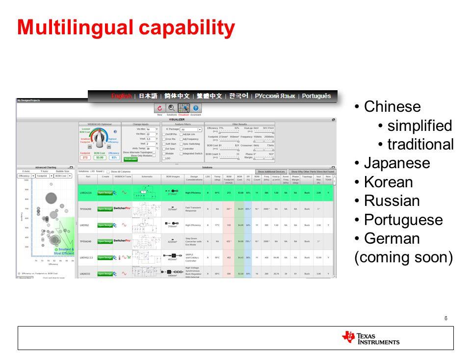Multilingual capability