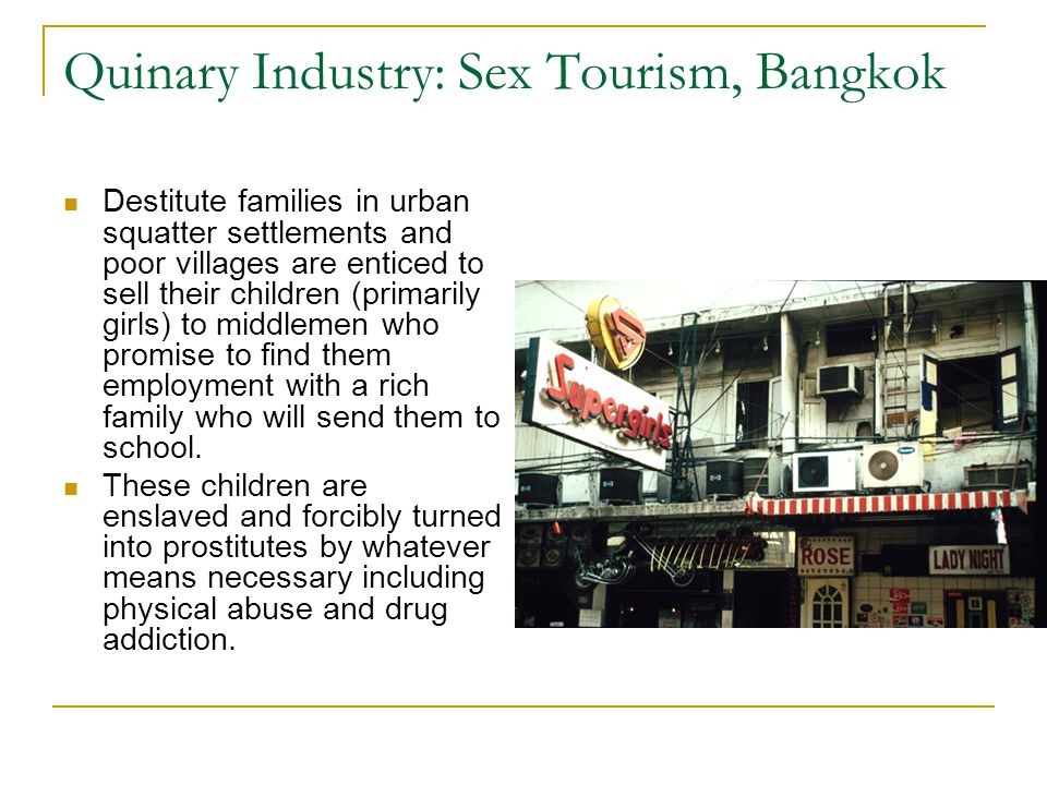 Quinary Industry: Sex Tourism, Bangkok