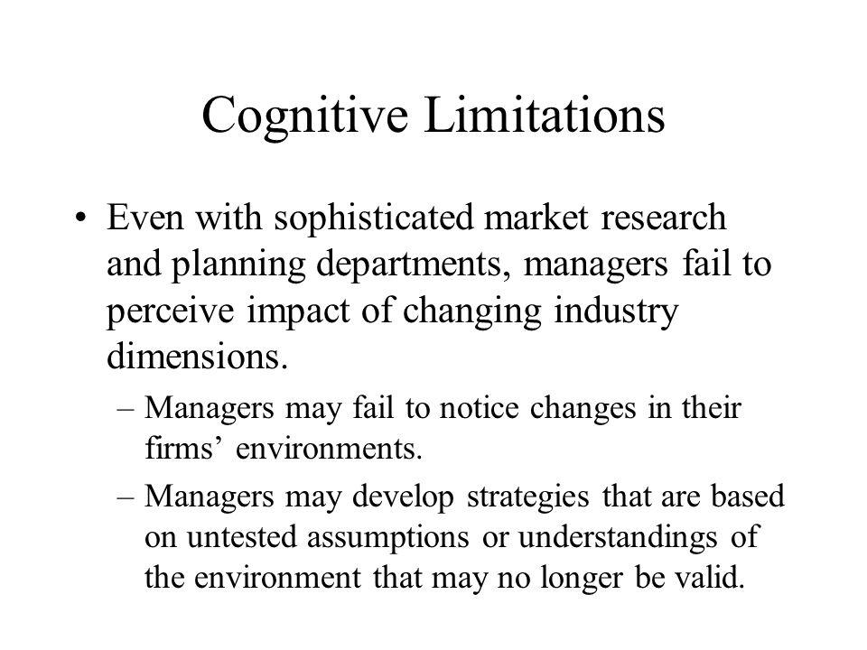Cognitive Limitations