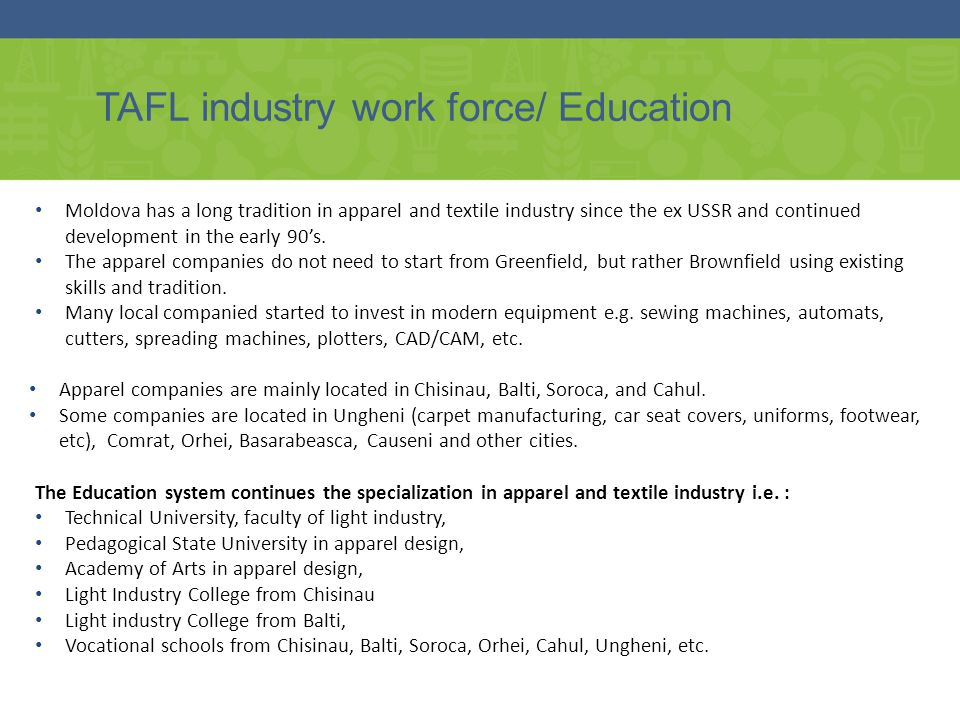 TAFL industry work force/ Education