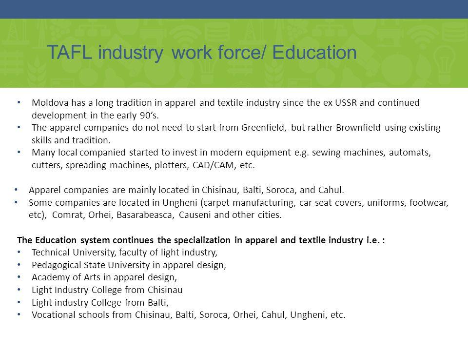 TAFL industry work force/ Education