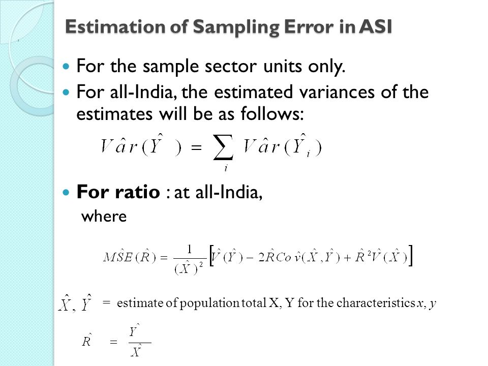 Estimation of Sampling Error in ASI
