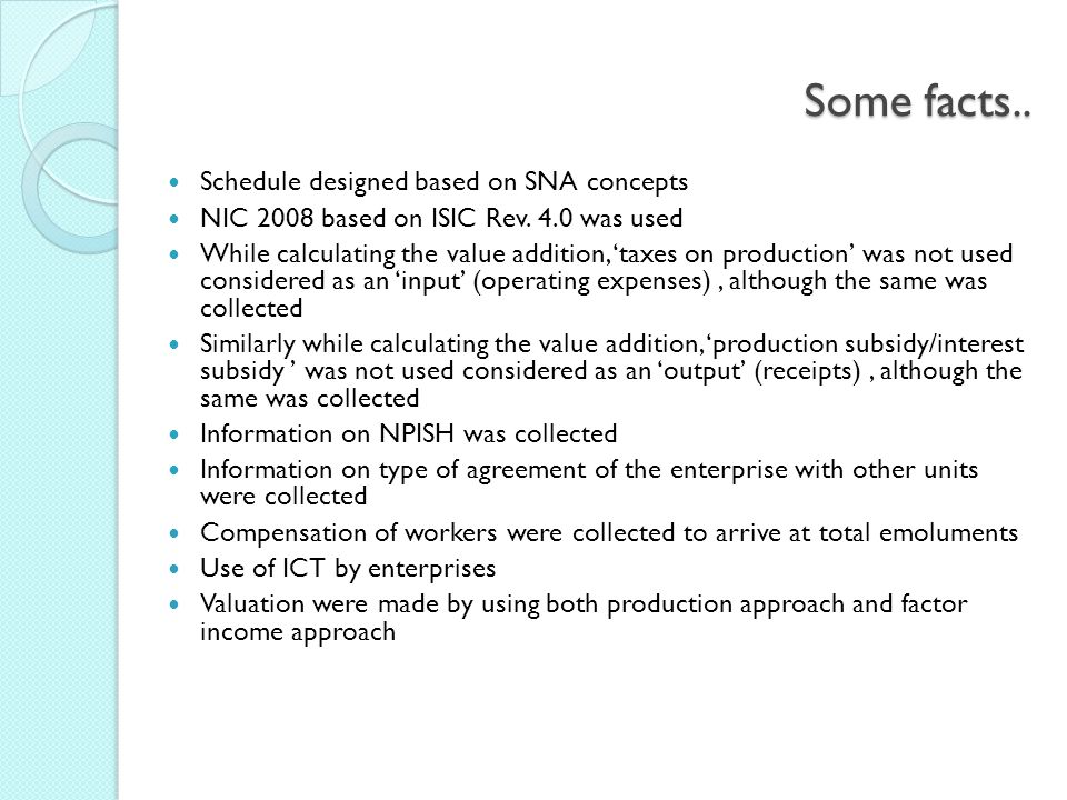 Some facts.. Schedule designed based on SNA concepts